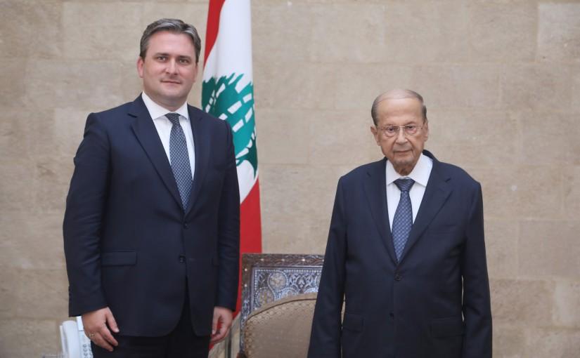 President Michel Aoun Meets Serbian Minister of Foreign Affairs Nikola Selakovic