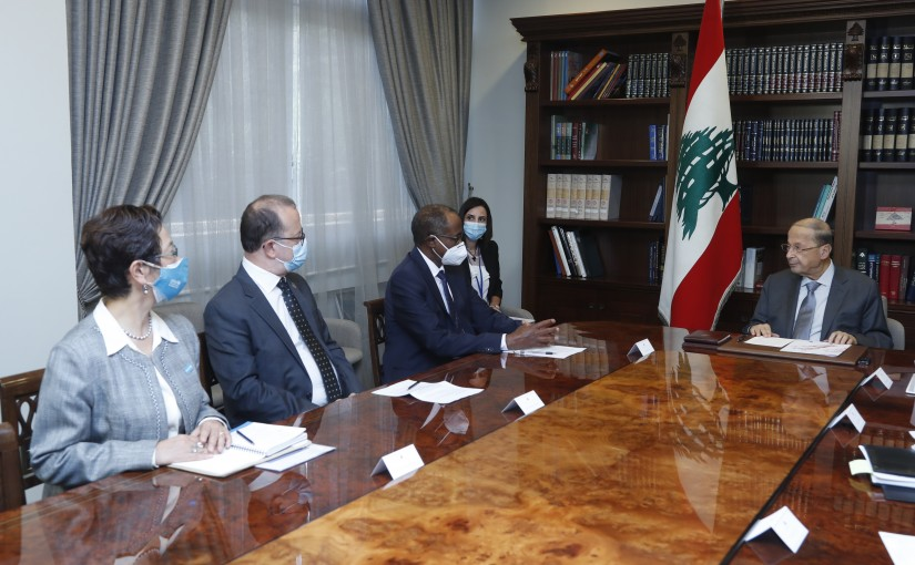 President Michel Aoun Meets a Delegation of UNICEF Headed By Mr Omar Abdi