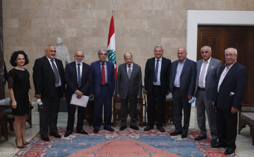 President Michel Aoun Meets a Delegation From Fruits & Vegetables Exporters & Importers