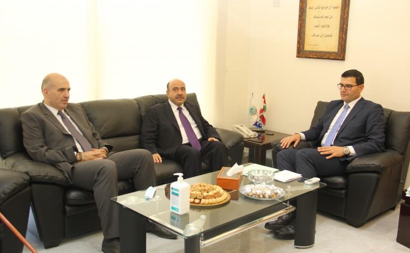 Minister Abass Hajj Hassan meets Jordanian Ambassador