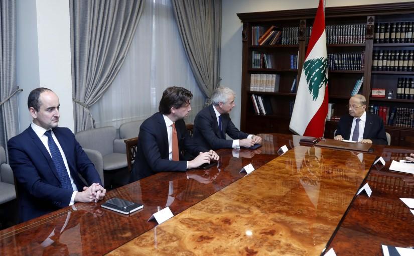 President Michel Aoun meets a  delegation LAZAR company.