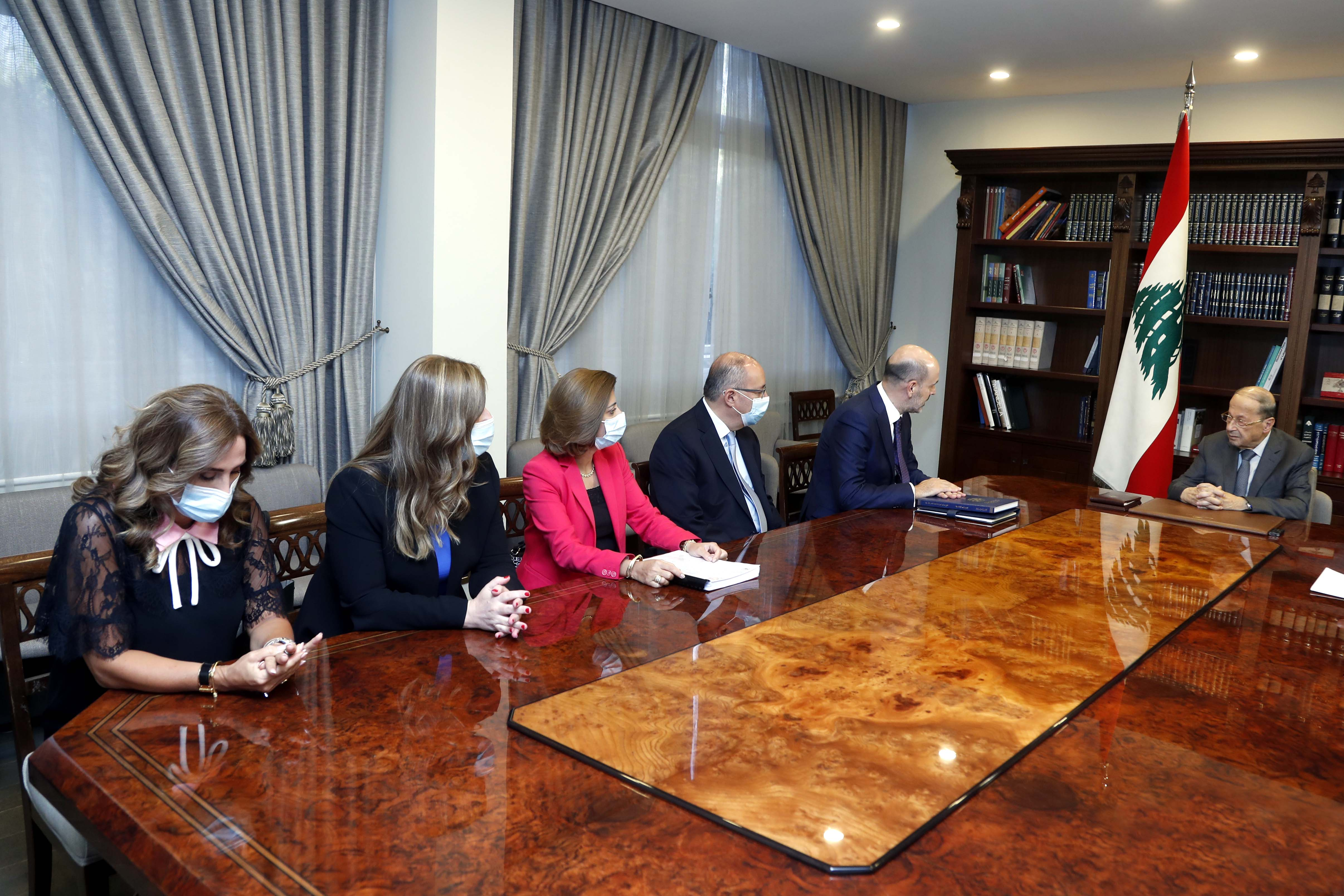 1 - Judge Mohamad Badran with a delegation (2)