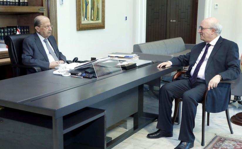 President Michel Aoun meets Former MP Nasser Kandil.