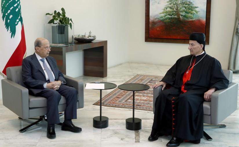 President Michel Aoun meets Patriarch Bechara Boutros Al-Raï.