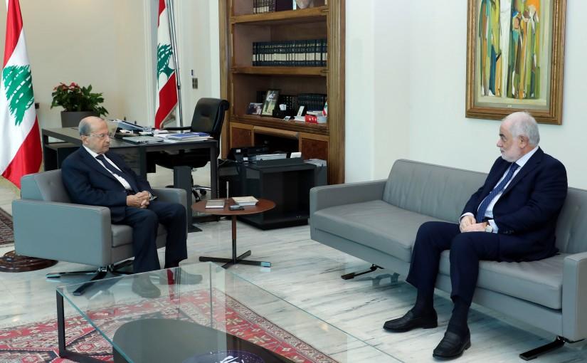 President Michel Aoun meets Former MP Amal Abou Zeid