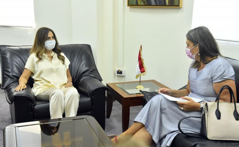 Minister Zeina Akkar meets Austria Ambassador