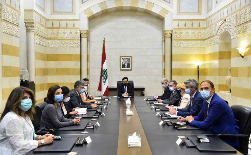 Pr Minister Hassan Diab meets a European Delegation