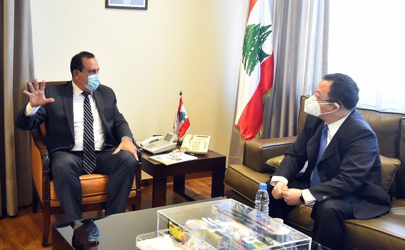 Minister Imad Heballah meets Chinese Ambassador