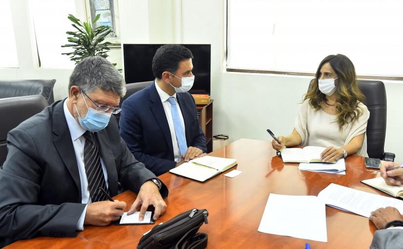 Minister Zeina Akkar meets a European Delegation