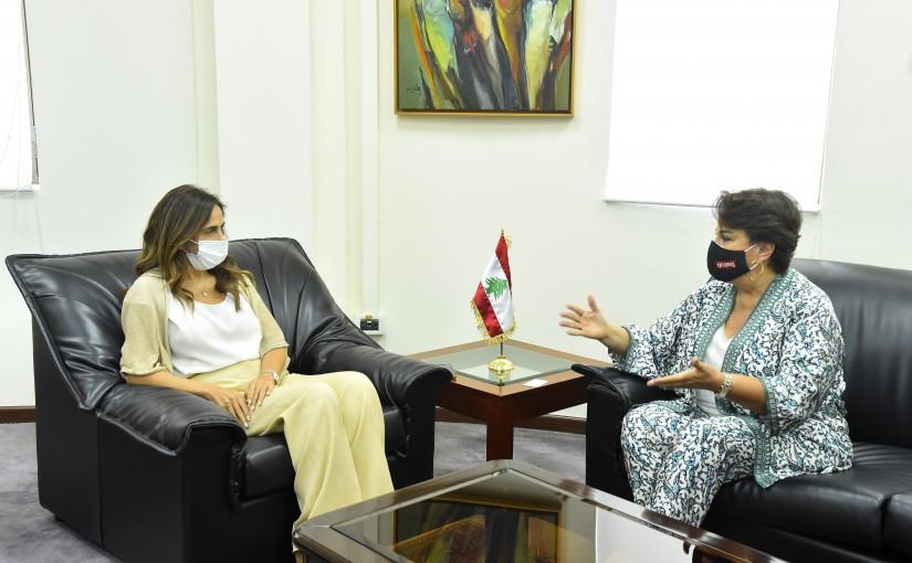 Minister Zeina Akkar meets Mrs Nahla Haidar
