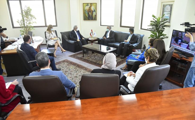 Minister Abdullah Abi Habib meets Dr. Tedros Adhanom