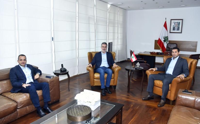 Minister Walid Nassar meets MP Elie Maalouf