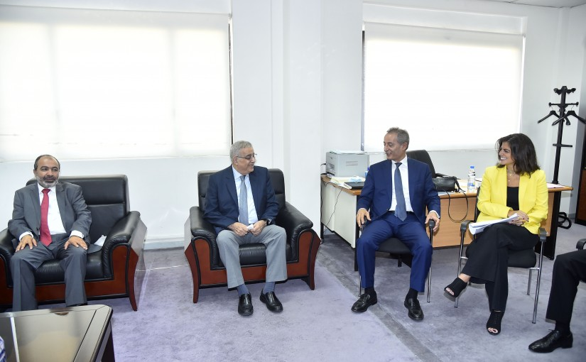 Minister Abdullah Abi Habib meets a Delegation from Employees at the Ministry of Foreign Affairs