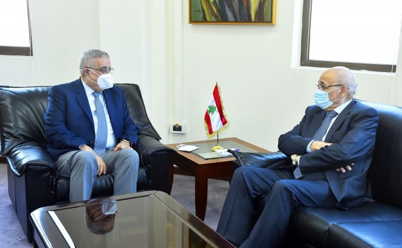 Minister Abdullah Abi Habib meets Mr Nasri Khoury