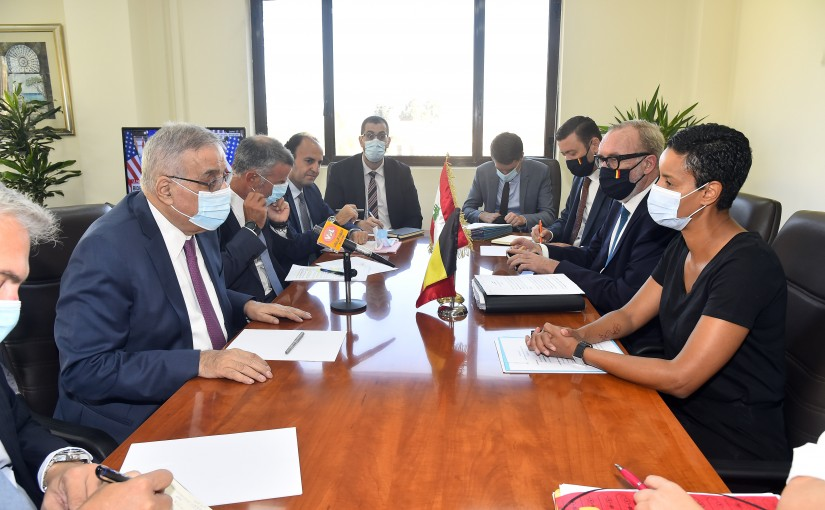 Minister Abdullah Abi Habib meets a Belgium Delegation