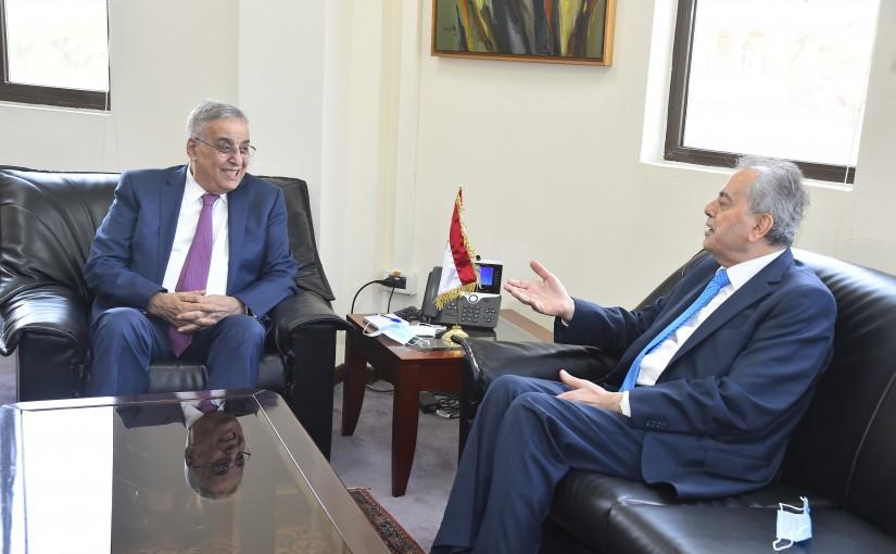 Minister Abdullah Abi Habib meets Syrian Ambassador