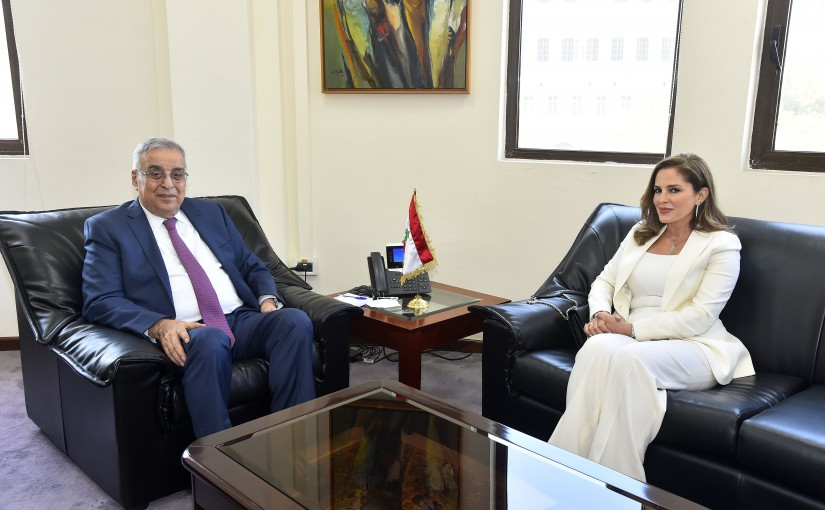 Minister Abdullah Abi Habib meets Former Minister Manal Abdel Samad