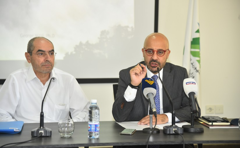 Press Conference for Minister of Environment