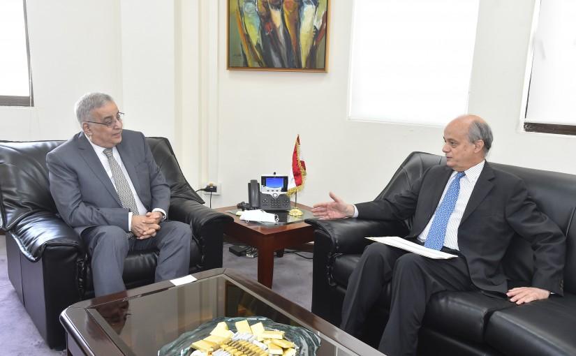 Minister Abdullah Abi Habib meets Spanish Ambassador