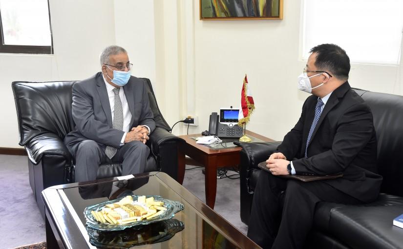 Minister Abdullah Abi Habib meets Chinese Ambassador