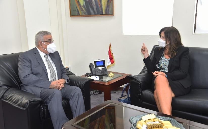 Minister Abdullah Abi Habib meets US Ambassador