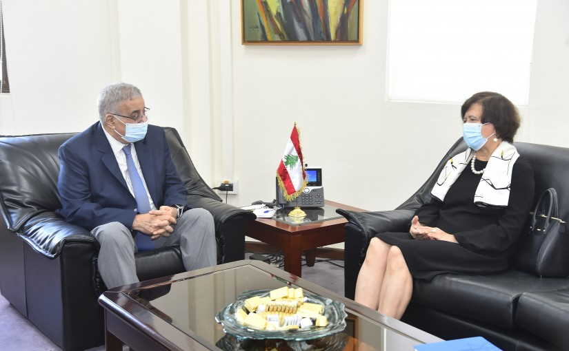 Minister Abdullah Abi Habib meets Mrs Joanna Wronecka