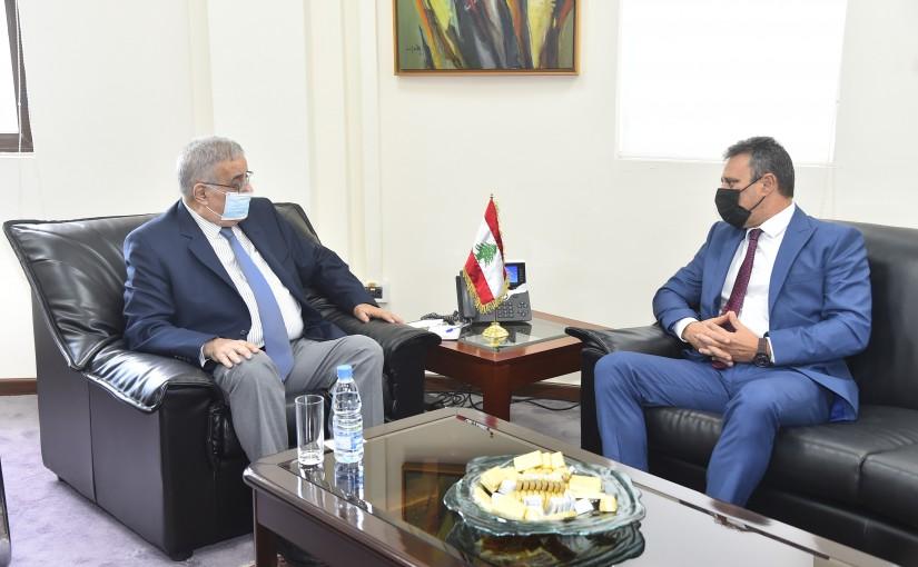 Minister Abdullah Abi Habib meets Cyprus Ambassador