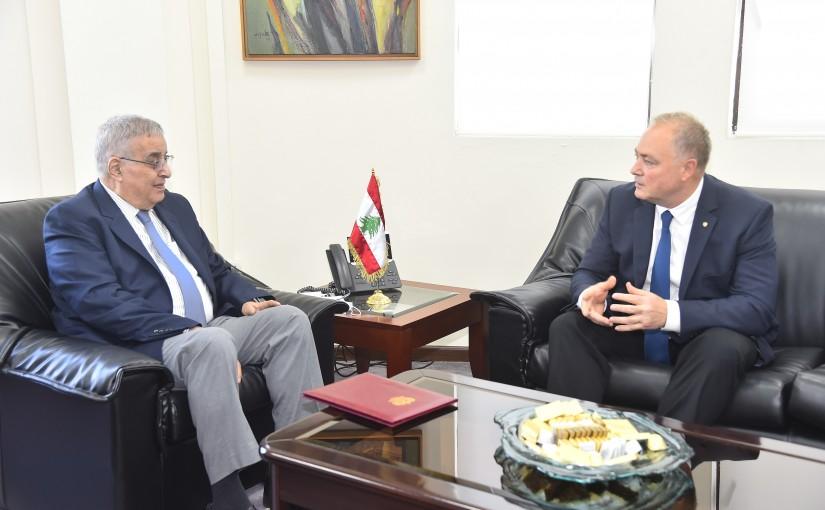 Minister Abdullah Abi Habib meets Russian Ambassador