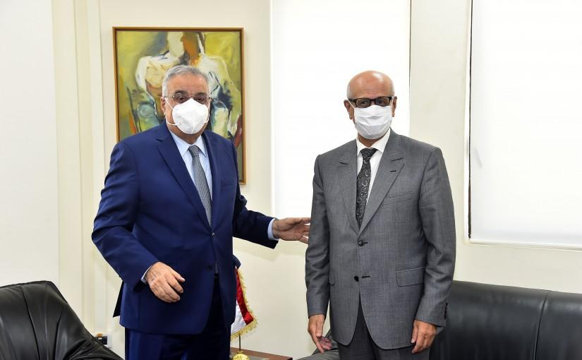 Minister Abdullah Abi Habib meets Marroco Ambassador