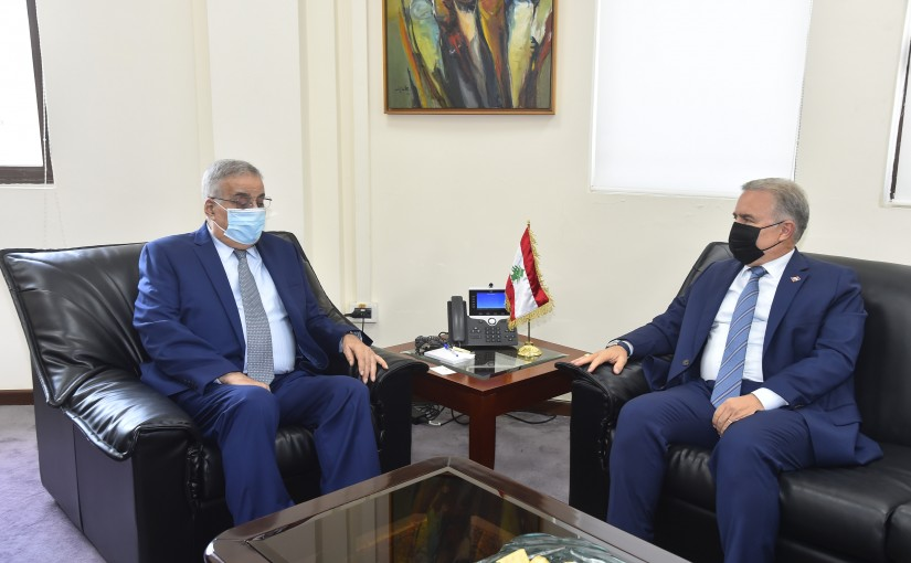 Minister Abdullah Abi Habib meets Rawanda Ambassador