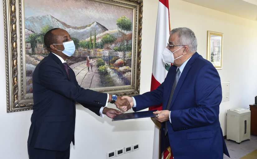 Minister Abdullah Abi Habib meets Dominican Ambassador