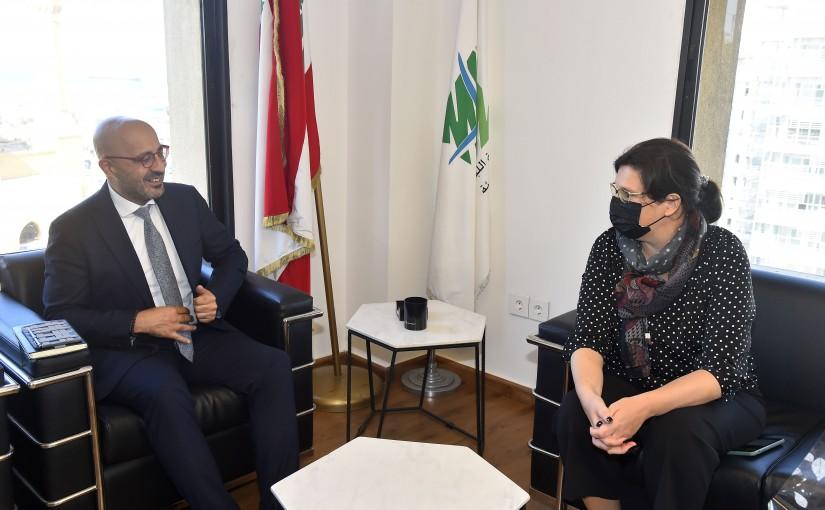 Minister Nasser Yassine meets a Delegation from UNDP