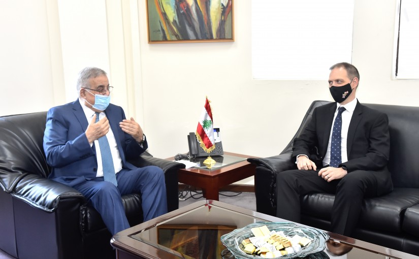 Minister Abdullah Abi Habib meets British Ambassador