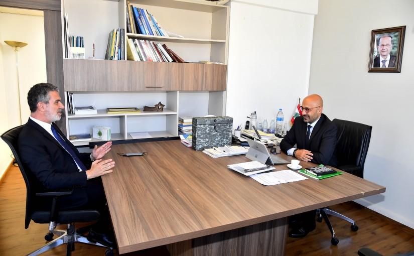 Minister Nasser Yassine meets Minister Walid Nassar