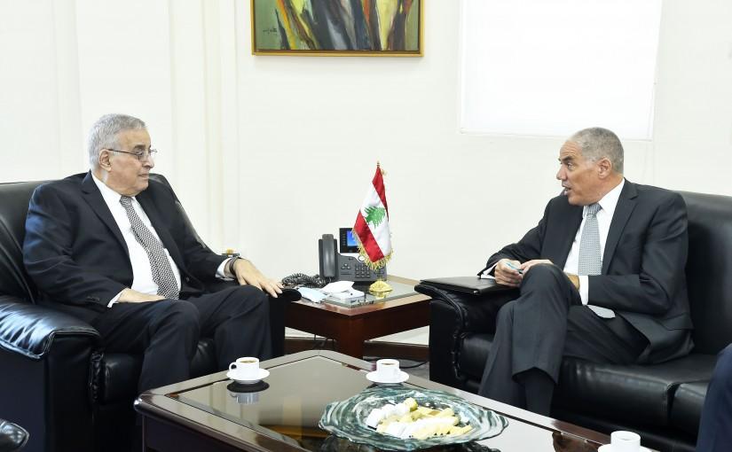 Minister Abdullah Abi Habib meets European Ambassador