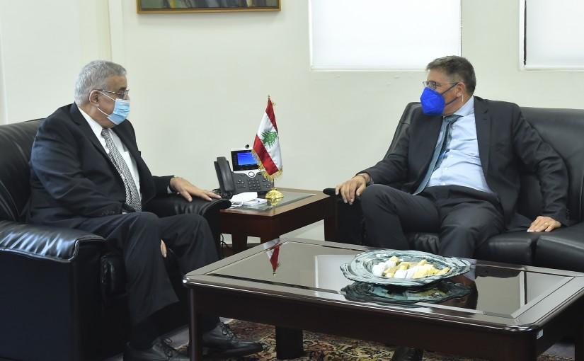 Minister Abdullah Abi Habib meets a German Delegation