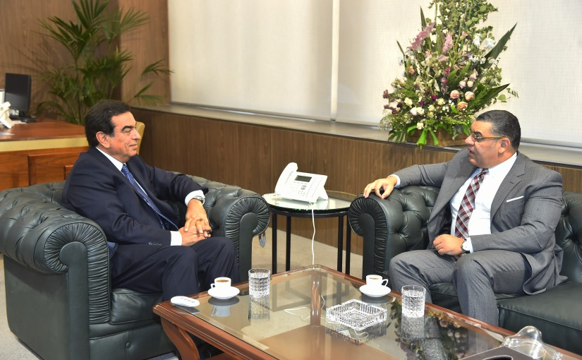Minister George Kordahi meets Egyptian Ambassador
