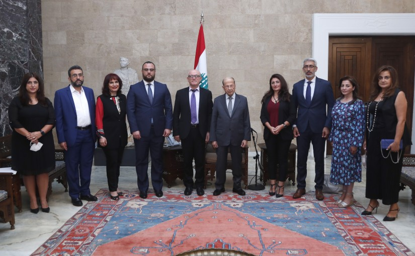 President Michel Aoun Meets a Delegation From The Center for Educational Research and Development Headed By Mr Georges Nohra