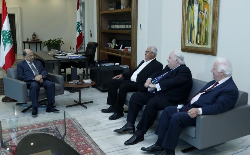 President Michel Aoun Meets Former MP Fadi Al-Awar