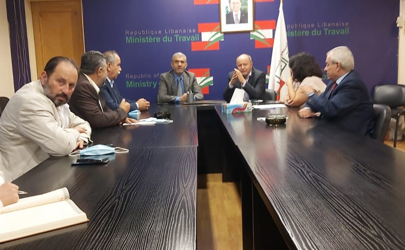 Minister Moustapha Bairam meets a Delegation from Labour Syndicate