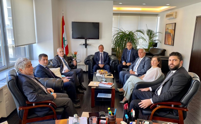 Minister Issam Charaf el Dine meets a Delegation from Employees of Ministry of Displaced People