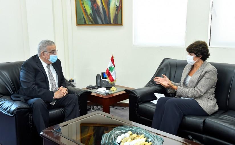 Minister Abdullah Abi Habib meets French Ambassador