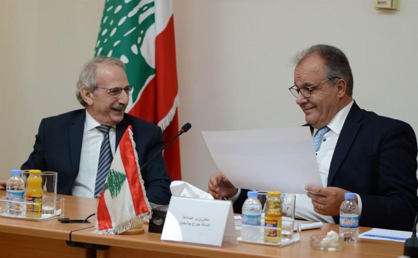 Minister George Boukachian Visits industrial reachers institute & Dr Bassam Fren