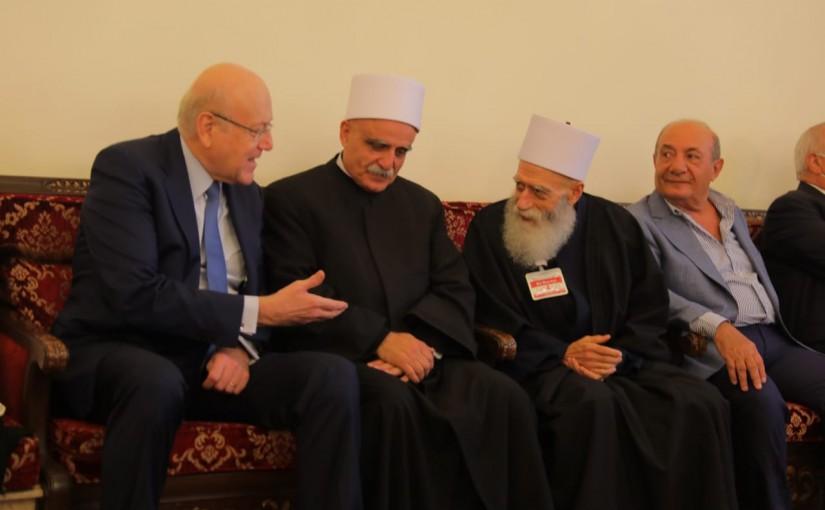 Pr Minister Najib Mikati Visits Druze Sect Housr