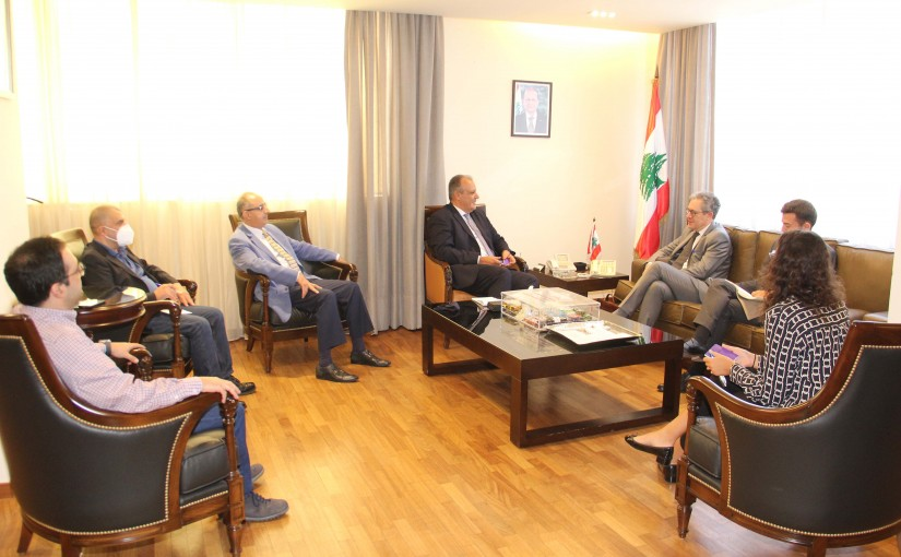 Minister George Boukachian meets a French Delegation
