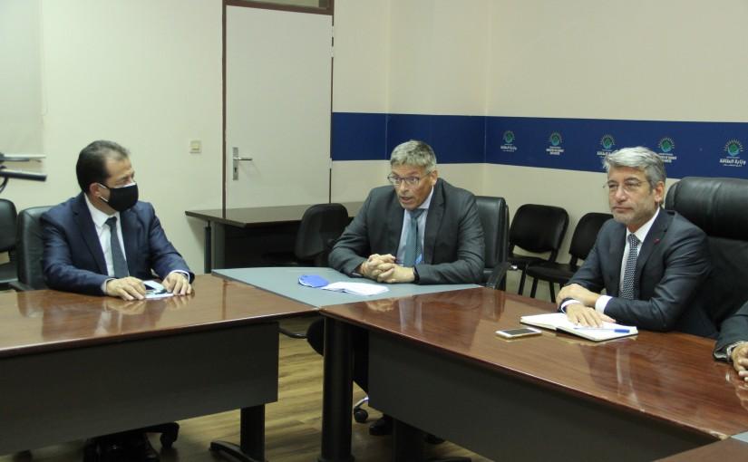 Minister Walid Fayad  meets a German Delegation