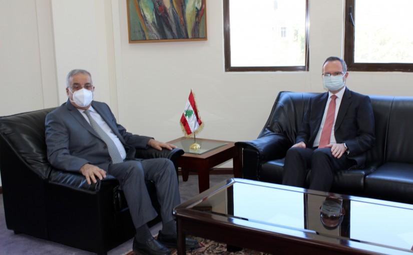 Minister Abdullah Abi Habib meets German Ambassador