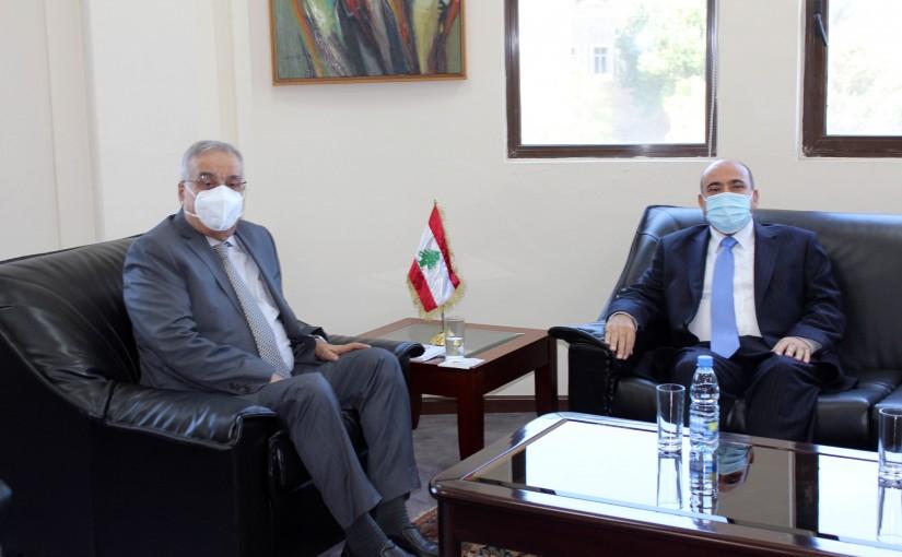 Minister Abdullah Abi Habib meets Jordanian Ambassador