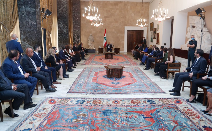 President Michel Aoun Meets a Delegation from the Youths