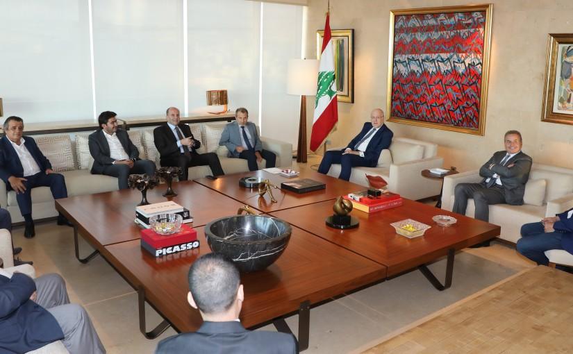 Pr Minister Najib Mikati meets Minister Gebran Bassil with a Delegation